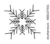 christmas snowflake isolated... | Shutterstock .eps vector #488107501