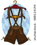 lederhosen  traditional german... | Shutterstock .eps vector #488114194