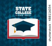 state college emblem education... | Shutterstock .eps vector #488116054