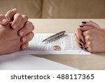 hands of wife and husband... | Shutterstock . vector #488117365