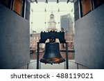 liberty bell and independence... | Shutterstock . vector #488119021