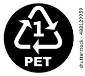 recycling symbols for plastic... | Shutterstock .eps vector #488129959