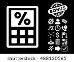 tax calculator icon with bonus... | Shutterstock .eps vector #488130565