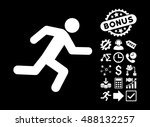 running man icon with bonus... | Shutterstock .eps vector #488132257