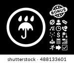 rain protection icon with bonus ... | Shutterstock .eps vector #488133601