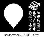 map marker icon with bonus... | Shutterstock .eps vector #488135794