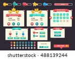 game ui | Shutterstock .eps vector #488139244