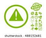warning error icon with bonus...