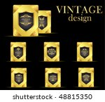 gold royal vintage cards | Shutterstock .eps vector #48815350