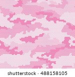 woman's camouflage seamless... | Shutterstock .eps vector #488158105
