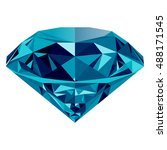 realistic shining blue diamond... | Shutterstock .eps vector #488171545