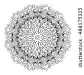 decorative mandala. vector...   Shutterstock .eps vector #488175325