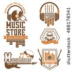 vector set of logos for the... | Shutterstock .eps vector #488178541