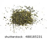 Small photo of Green tea leaves (camella sinensis) from China - isolated
