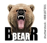 bear typography  t shirt... | Shutterstock .eps vector #488187301