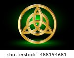 triquetra symbol   vector... | Shutterstock .eps vector #488194681