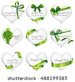 set of beautiful heart shaped... | Shutterstock .eps vector #488199385