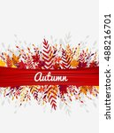 colorful autumn leaves  vector... | Shutterstock .eps vector #488216701