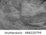 nylon fishing nets in a market  ... | Shutterstock . vector #488220799