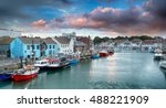 the harbour at weymouth on the... | Shutterstock . vector #488221909