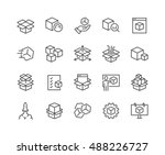 simple set of abstract product... | Shutterstock .eps vector #488226727