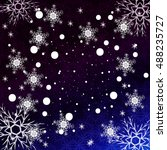 blue gradient christmas... | Shutterstock .eps vector #488235727