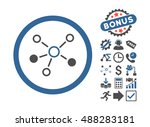 relations icon with bonus... | Shutterstock .eps vector #488283181