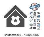 police office icon with bonus... | Shutterstock .eps vector #488284837