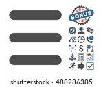 menu items icon with bonus...