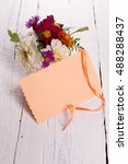 autumn flowers and card for... | Shutterstock . vector #488288437