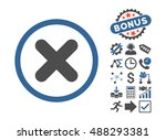 cancel icon with bonus elements.... | Shutterstock .eps vector #488293381