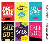 modern sale banner set ... | Shutterstock .eps vector #488304349