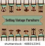 furniture sale advertisement...   Shutterstock .eps vector #488312341