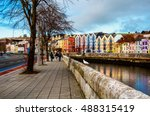 Bank of the river lee in cork ...