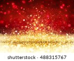Christmas Background   Golden...