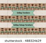 furniture sale advertisement... | Shutterstock .eps vector #488324629