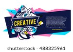 vector illustration of colorful ... | Shutterstock .eps vector #488325961