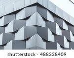 Angle Of Black Metal Wall Of...