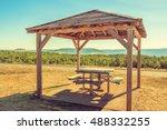 area for rest alongside a... | Shutterstock . vector #488332255