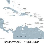 the caribbean countries... | Shutterstock .eps vector #488333335