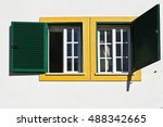 windows of the portuguese house  | Shutterstock . vector #488342665