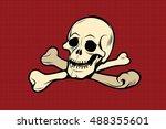 jolly roger. the skull and... | Shutterstock .eps vector #488355601