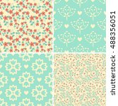 seamless pattern with...   Shutterstock .eps vector #488356051