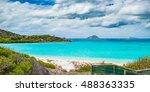 Small photo of Beautiful Blue Lagoon on Lizard Island in far north Queensland, Australia