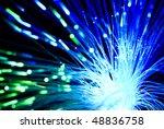 fiber optics background with... | Shutterstock . vector #48836758