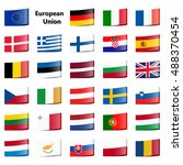 collection of loop ribbon flags ... | Shutterstock .eps vector #488370454