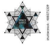 space  cosmic mandala... | Shutterstock .eps vector #488371339