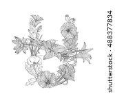 ophiuchus  thirteenth sign of... | Shutterstock .eps vector #488377834