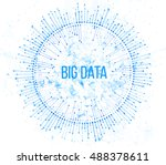 big data visualization.... | Shutterstock .eps vector #488378611