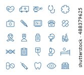 collection of 25 linear medical ... | Shutterstock .eps vector #488379625